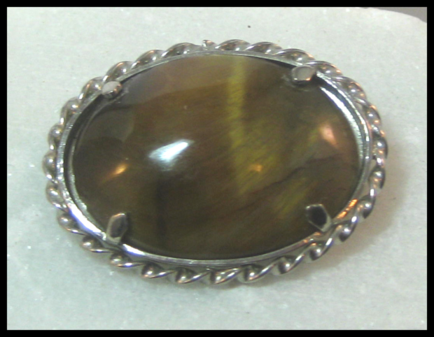 Tigers Eye Pin