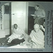 Keystone Stereo View of The Mahatma Mohandas Karamchand Gandhi
