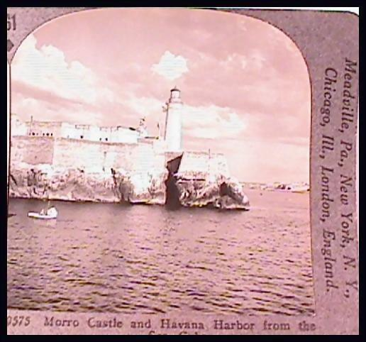 Morro Castle and Havana Harbor - Keystone Stereo View