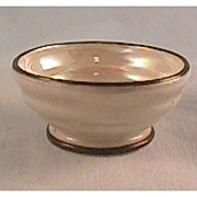 German Luster Footed Open Salt Dish - Red Tag Sale Item