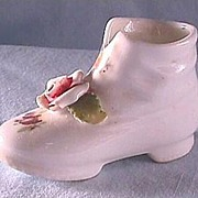 Elfinware Shoe Boot with Pink Flower