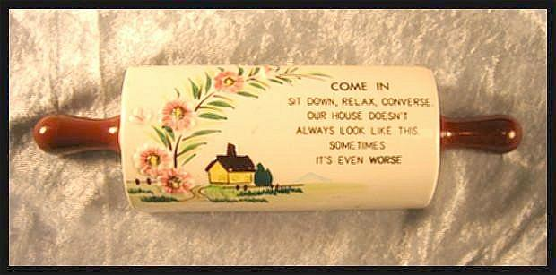 Wall Pocket Rolling Pin with Motto