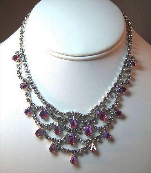 Gloriously Glitzy B. David Rhinestone Necklace