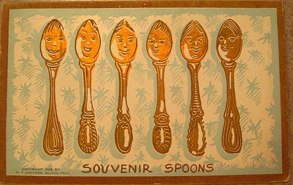 Souvenir Spoons Post Card