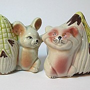 Mice and Vegetables Salt and Pepper Shakers