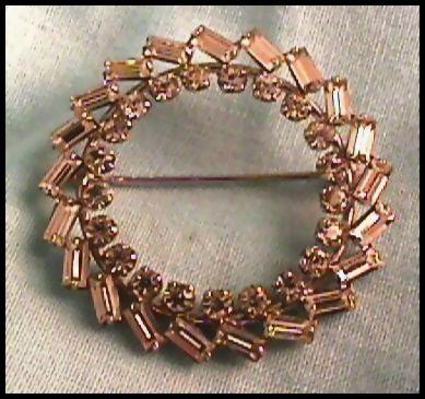 Simply Sterling and Rhinestone Circle Pin
