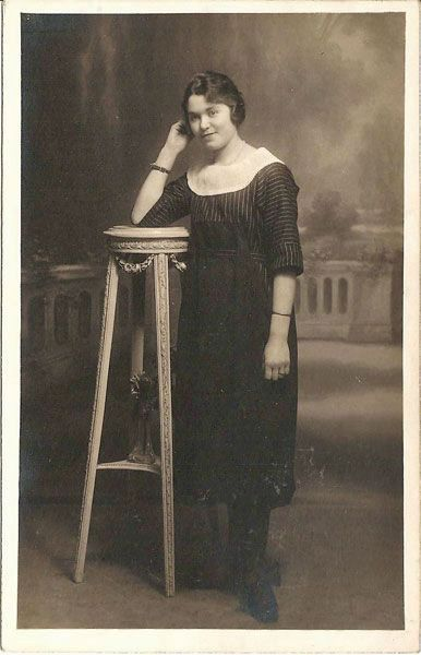 Lovely Young French Woman Real Photo Postcard