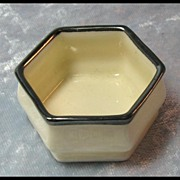 Lenox American Belleek Open Salt with Silver Trim