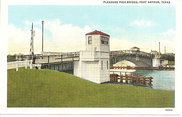 pleasure pier bridge port arthur texas from antique