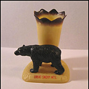 Black Bear Souvenir Toothpick Holder - Great Smoky Mountains