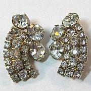 Lovely Clear Rhinestone Earrings