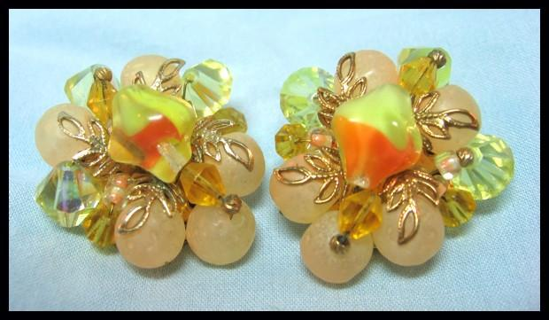 Yum Yum! Peach and Yellow Earrings