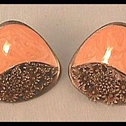 Earrings with Coral Enamel by Berebi