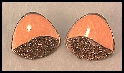 Earrings with Coral Enamel by Berebi