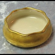 Gold Lenox Belleek Open Salt