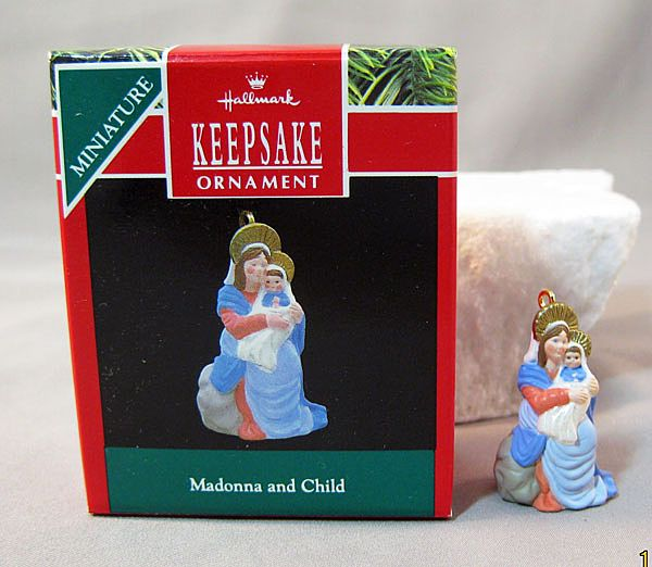 Madonna and Child Hallmark Keepsake Miniature Ornament 1990