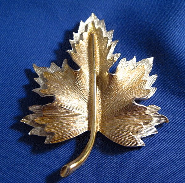 Sara Coventry Two Tone Leaf Pin