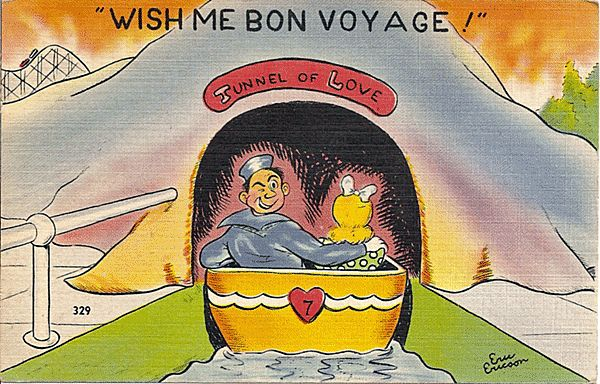 Humorous WW 2 Sailor Postcard by Eric Ericson