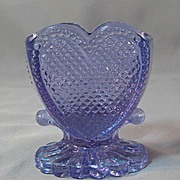 Degenhart Heart Heatherbloom Glass Toothpick Holder