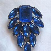 Blue Rhinestone Dress Clip