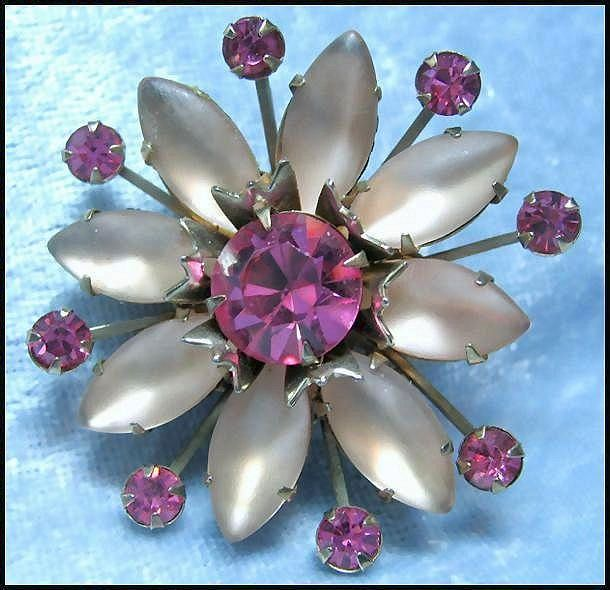 Rhinestone Pin with Soft and Pretty Pink