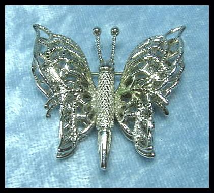 Monet Dimensional Butterfly Pin