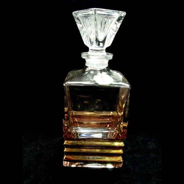 Vintage Cristallo Lead Crystal Perfume Bottle