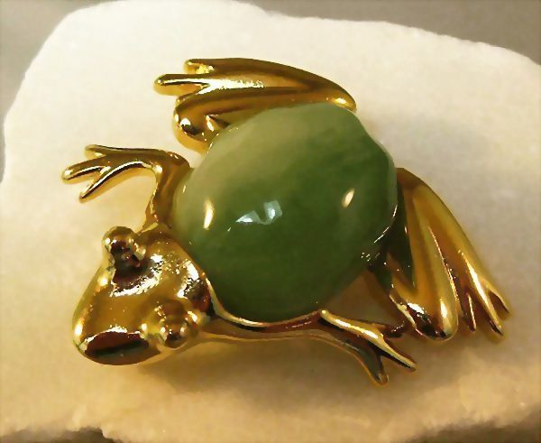 Kenneth J. Lane Frog Pin Brooch, Necklace, Pearl Enhancer