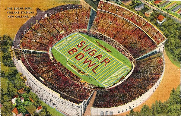 Postcard of the Sugar Bowl, Tulane Stadium, New Orleans, Louisiana