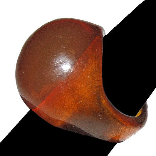 Apple Juice Bakelite Domed Ring