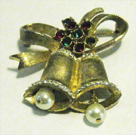 Lovely Christmas Double Bell Pin