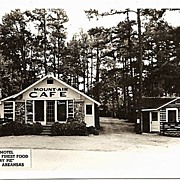 Real Photo Postcard of Mount Air Cafe in Eureka Springs Arkansas