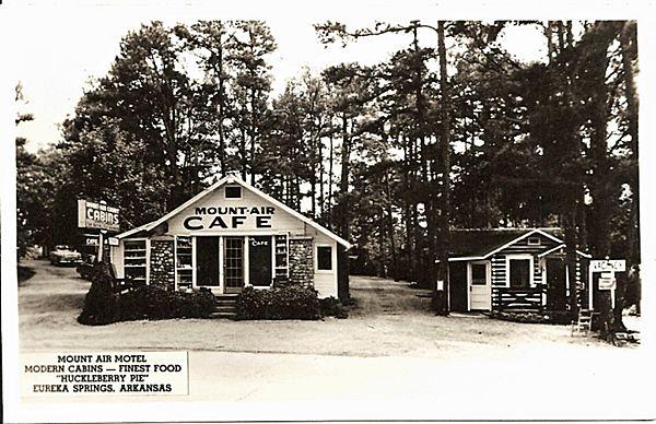 Real Photo Postcard of Mount Air Cafe in Eureka Springs Arkansas