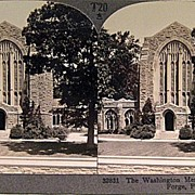 Keystone Stereo View of The Washington Memorial Chapel at Valley Forge Pennsylvania