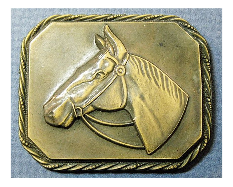 Early Plastic Horse Head Equestrian Pin