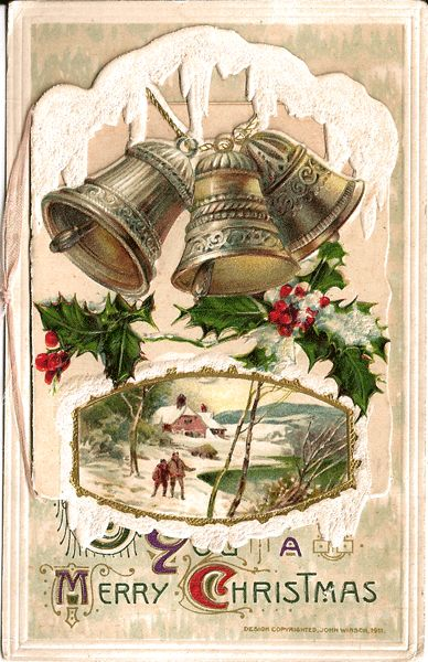 Winsch Christmas Postcard - Card on Card