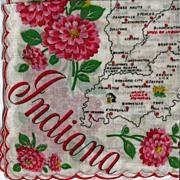 Indiana State Hankie Handkerchief
