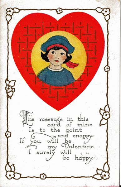 Valentine's Day Postcard by Carrington Co. - Undivided Back