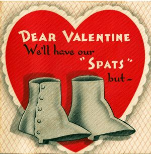 "Vintage Gibson Valentine's Day Card ""Spats"""