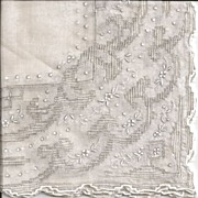 Lovely and Elaborate Bride's Hankie with Pulled Work
