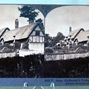 Stereo View of Ann Hathaway's Cottage, Shottery, near Stratford-on-Avon England