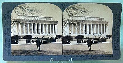 Keystone Stereo View of Lincoln Memorial, Washington DC