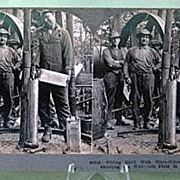 Keystone Stereo View of Oil Fields in Pennsylvania