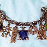 Asian Style Chunky Charm Bracelet
