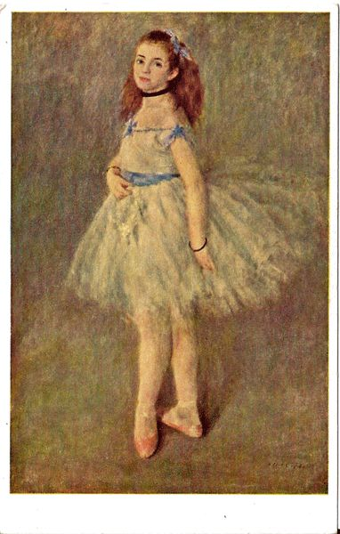 Postcard of The Dancer by Renoir