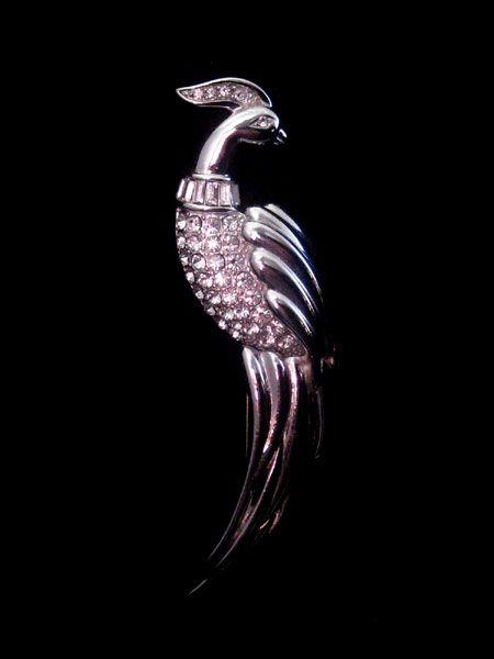 Elegant Monet Bird of Paradise Pin