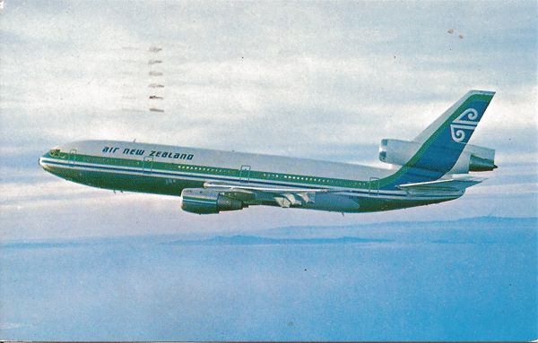 Postcard of Air New Zealand's DC-10 Airplane