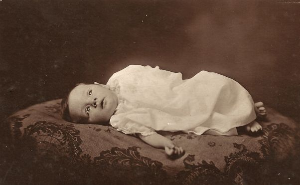 Real Photo Postcard of Baby Birth Announcement from antique – Vintage Birth Announcement