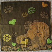 Faith Austin Hankie with Art Nouveau Lady's Head