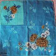 Gorgeous Turquoise Designer Hankie by Erin O'Dell
